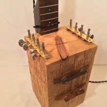 Guitar Neck Lamp with Cedar Base