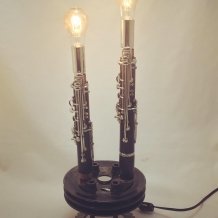 Dueling Clarinets Lamp