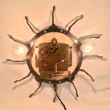 Wall Clock Sconce