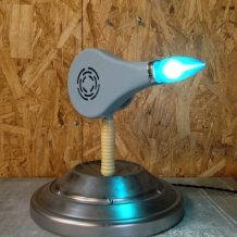 Powder Blue Hairdryer Lamp