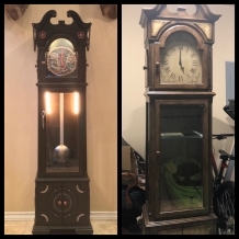 Faux Grandfather Clock Before & After