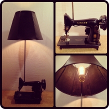 1950's Singer Sewing Machine Lamp