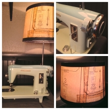 """Minty-Keen"" Sewing Machine Lamp"