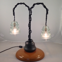 Glass Insulator Tree Lamp