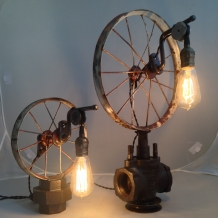 """Flat Tires"" Bicycle Wheel Lamps"