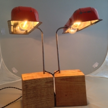 """""""Seeing Double"""" Chevy Valve Cover Desk Lamps"""