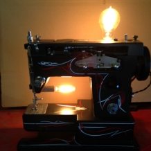 Hot Rod Sewing Machine Lamp