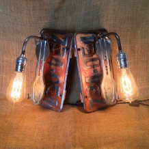 """""""Going Places"""" License Plate Wall Sconces"""