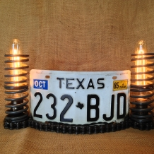 """Texas Shrine"" License Plate Lamp"