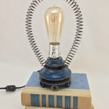 Tiny Blue Pulley Lamp