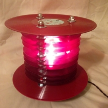 Ruby Red Vinyl Record Lamp