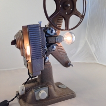 """The Show Must Go On"" Projector Lamp"