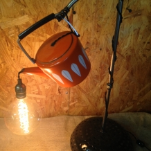"""Pennyroyal Tea"" Vintage Teapot Lamp"